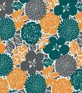 Quilter\u0027s Showcase Cotton Fabric 44\u0022-Deep Lake Floral