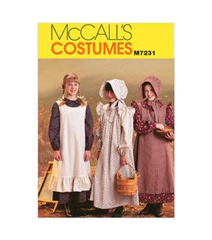 McCall's Pattern M7231-Girls' Pioneer Costumes