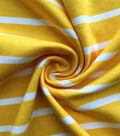 Knit Prints Pima Cotton-Yellow White Stripe