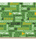 Blizzard Fleece Fabric 59\u0022-Soccer Words
