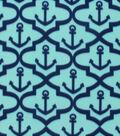 Blizzard Fleece Fabric -Moroccan Anchors