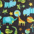 Anti- Pill Fleece Fabric- Jungle Buddies
