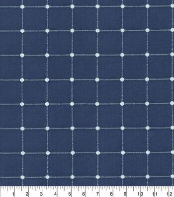"Waverly Upholstery Fabric 13x13"" Swatch-Geo Metrics Indigo"