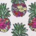 Blizzard Fleece Fabric-Pineapple Floral