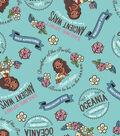 Disney Moana Flannel Fabric 42\u0022-Oceanic Girl