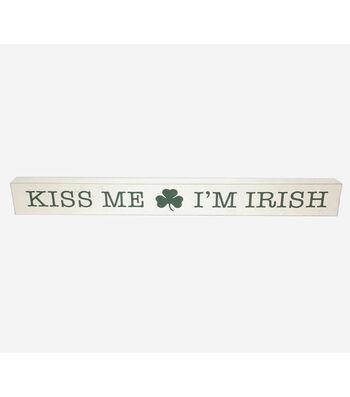 St. Patrick's Day Decor Word Block-Kiss Me I'm Irish