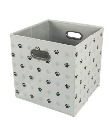 Collapsible Storage Cube-Paw Prints