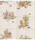 Picnic Floral  Purple Kitchen Tile Wallpaper Sample