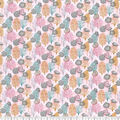 Premium Prints Cotton Fabric-Pink Seashells & Coral