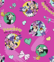 Disney Minnie Mouse Cotton Fabric 43''-Friendship Never Goes Out, , hi-res