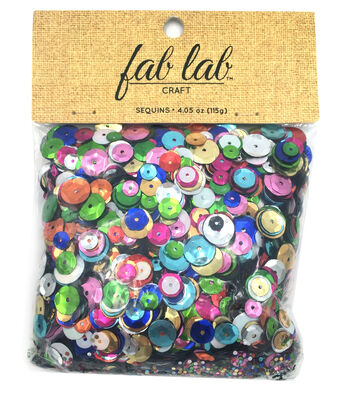 Assorted cup sequins, 115 grams