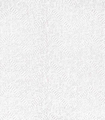 Kathy Davis® Apparel Fabric 59''-White Chevron Burnout