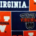 University of Virginia Cavaliers Fleece Fabric -Block