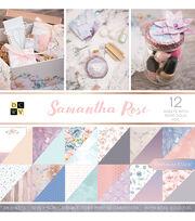 DCWV 36 Pack 12''x12'' Premium Stack Printed Cardstock-Samantha Rose, , hi-res