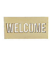 "Fab Lab 5"" Wooden Welcome Sign, , hi-res"