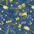 University of Michigan Wolverines Jersey Knit Fabric -Spirit