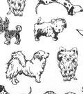 Doodles Cotton Fabric -Preppy Poodles