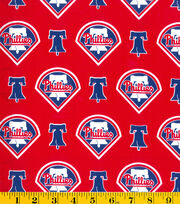 Philadelphia Phillies Cotton Fabric -Logo, , hi-res