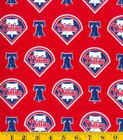 Philadelphia Phillies Cotton Fabric -Logo, , hi-res