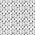 Nursery Flannel Fabric -Black Arrows on White