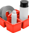 Storex 3-Compartment Small Caddy-Red