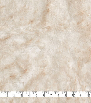 Fashion Faux Fur Fabric -Eskimo Cream Brown