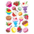 Treat Yourself-Chocolate Mixed Shapes Stinky Stickers 6 Packs