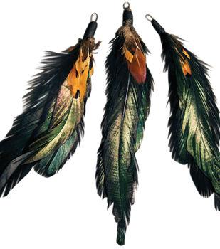 "Feather Picks 5.5"" 3/Pkg-Natural Cocktail/Pheasant"