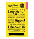 Waffle Flower Crafts Clear Stamps-Congrats