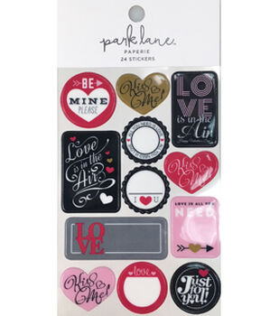 Park Lane Paperie 24 pk Stickers-Love