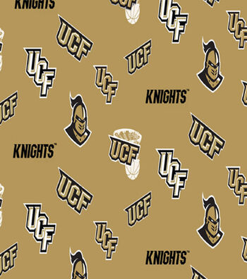 University of Central Florida Knights Cotton Fabric -Toss