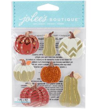 Jolee's Boutique Dimensional Stickers-Metallic Pumpkins