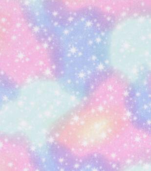 Anti-Pill Plush Fabric-Cotton Candy Sky