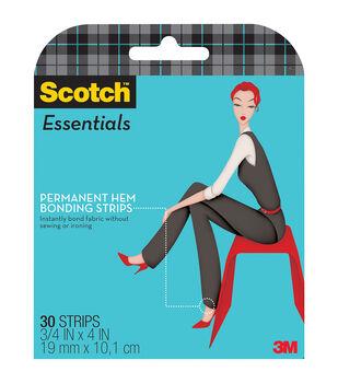 "Scotch Essentials 30pcs 0.75""x4"" Permanent Hem Bonding Strips"