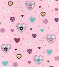 Nursery Flannel Fabric -Hearts