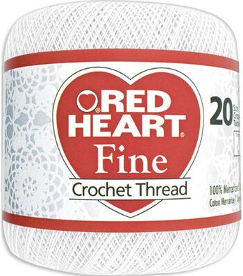 Red Heart Fine Crochet Thread-White
