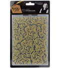 Sara Davies Signature Black & Gold 5\u0027\u0027x7\u0027\u0027 Embossing Folder-Regal Swirls