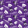 Kansas State University Wildcats Cotton Fabric-Tone on Tone