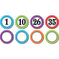 Polka Dots Numbers Magnetic 42/pk, Accents Set Of 3 Packs