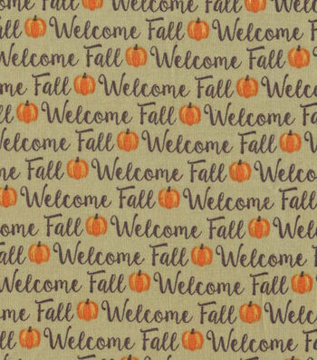 Welcome Fall Words