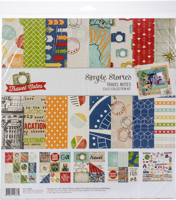 Simple Stories Travel Notes 12''x12'' Collection Kit
