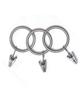 """Kenney 1 1/2"""" Clip Rings- Set of 14-Antique Pewter"""