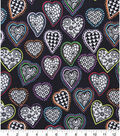 Snuggle Flannel Fabric -Bright Kaleidoscope Hearts