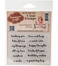 Dreamerland Crafts Sentiments Clear Stamp Set 3\u0027\u0027x4\u0027\u0027-Hugs & Kisses 01