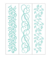 Park Lane 3 pk 1.4''x5.75'' Border Embossing Folders-Swirls, , hi-res