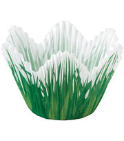 Wilton Baking Cups-Shaped Grass 24/Pkg-Standard, , hi-res