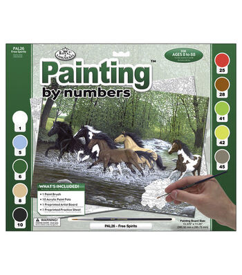 15-3/8''x11-1/4'' Adult Paint By Number Kit-Free Spirit
