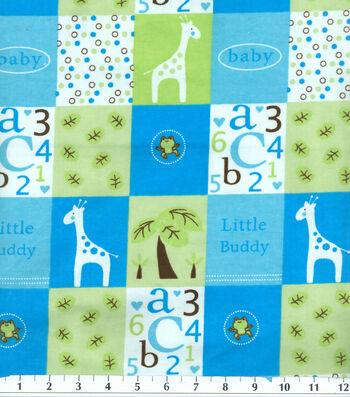 Snuggle Flannel Fabric 42''-Blue Little Buddy