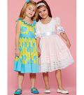 McCall\u0027s Pattern M7557 Girls\u0027 Ruffle-Neck Dresses with Bands & Ties