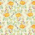 Harvest Cotton Fabric-Watercolor Harvest